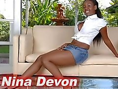 Nina Devon Gives A Blowjob To A Hot