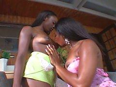 Lesbian teen lesbians have dildo fun