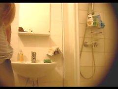 Teen shower spy
