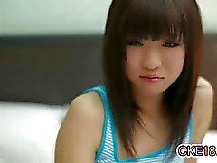 Stunning Japanese Teen Thong Tease