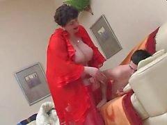 BBW Wakes a Teen Boy and Fucks by TROC