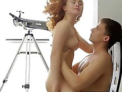 Skinny beauty is impaled on pecker