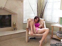 Kam54 Horny teen on webcam spreads and rub her clit to...
