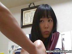 Spycam Schoolgirl climax Massage