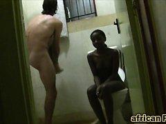 European dude scores hot African teen