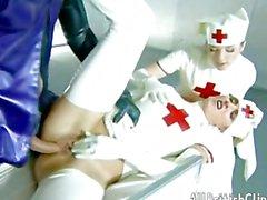 Zoe Young & Sabrina Jade - Latex Nurses Anal british euro brit eur