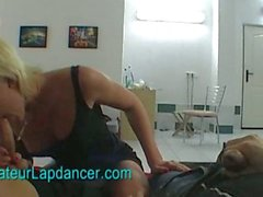 Czech teen's lapdance and blowjob