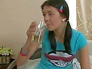 Timid Asian teen gets drilled