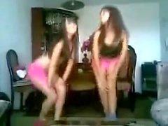 Two Hot Teen Girls Dancing