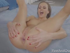 First anal fuck of a young British slut Tina Kay