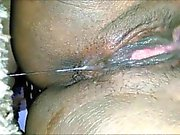Black Amateur Babe Fingering her Wet Pussy To a Squirting Orgasm HD Closeup