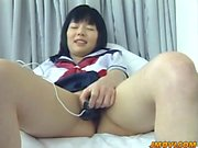 Sassy Sakai gets her hairy twat banged hard in different pos