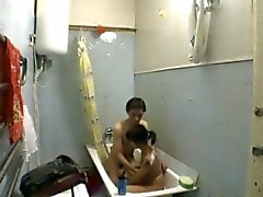 Teens in bathroom
