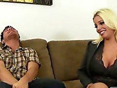 Horny hot MILF gets caught masturbating