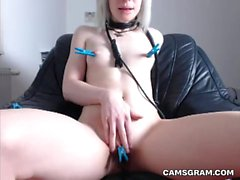 Slutty Kinky Camgirl With Pretty Face Fucked Herself