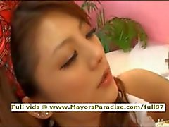 Risa Tsukino innocent Chinese in school licked and blowjobs