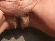 amberx peeing outside in the sun