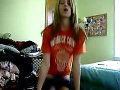 Teen short striptease
