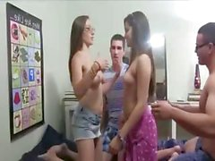 Hot models fucking in their college room