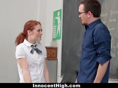 Slutty Schoolgirl Seduces Her Teacher