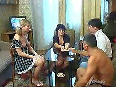 Strip poker leads to sexy swinging