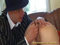 extreme anal lesson by our boss