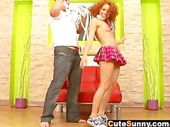 Cute Sunny - Anal Cream Pie