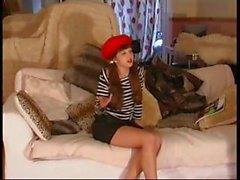 British Rosaleen Young Gets Spanked Pretending To Be French