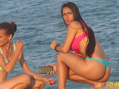 Voyeur Beach Hot Blue Bikini Thong Amateur Teen Video