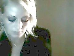 27yo blonde teasing on webcam