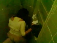 Female Teacher Caught Fucking a Student In A Toilet