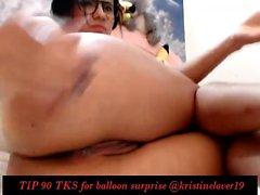 Brunette teen nice toying on webcam