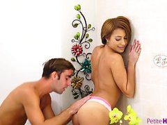 Tanned spinner Marina Angel enjoys sucking her man off and