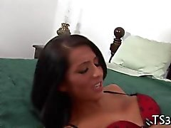 Busty Schoolgirl behaving badly in bed