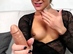 Teen blonde handling two big cocks