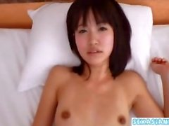 Asian Girl In Socks Fucked Squirting While Stimulated With Vibrator On The