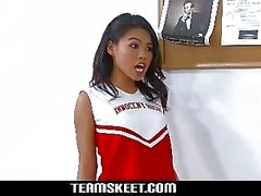 InnocentHigh Petite Asian cheerleader teen Cindy S