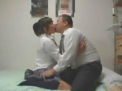 Schoolgirl getting her nipples sucked pussy licked