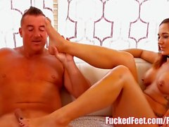 Sexy Teen Autumn Loves to Have Her Feet Worshiped for FuckedFeet