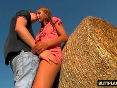 Hot teen outdoor and cumshot