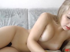 Horniest Amateur Blonde 19yo Teen Anal creampie on Webcam