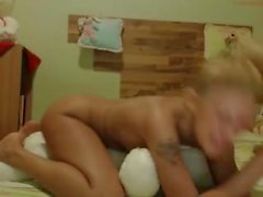Blonde humping teddy