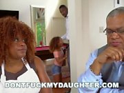 DON'T FUCK MY DAUGHTER - Black Teen Kendall Woods Fucks Her Father's Friend