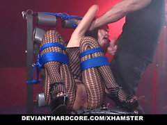 DeviantHardcore - Hot Asian Teen Gets Cock Plugging