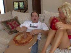 BigSausagePizza com Diamond Foxxx Gets Her Big Sausage Special