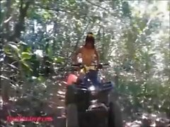 Thai teen heather goes atving in paradise and gets huge throatpie in quad.m