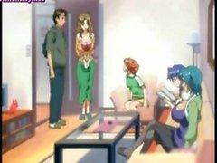 Anime teenie gives oral sex