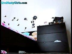 Blonde Webcam Girl In High Heels Cums