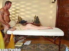 TrickySpa natural blonde First Time Sucking Dick