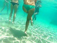 Italian teen thong gopro underwater